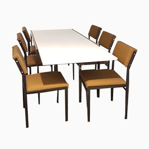 Mid-Century Japanese Series Dining Chairs by Cees Braakman for Pastoe, Set of 7
