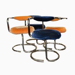 Chaises de Salon Modèle Cobra par Giotto Stoppino, 1970s, Set de 4