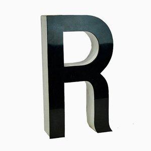 Methacrylate Buchstabe R Gewerbliches Schild, 1970er