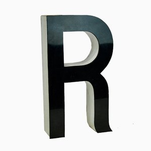 Methacrylate Letter R Commercial Sign, 1970s