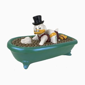 Disney Uncle Scrooge in a Bathtub Filled with Money by Demons & Merveilles, 1990s