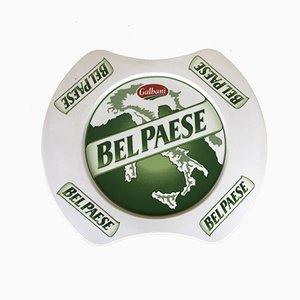 Italian Ceramic Bel Paese Cheese by Galbani Advertising Sign, 1980s