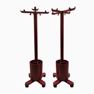 Rote Kleiderständer von Ettore Sottsass für Olivetti Synthesis, 1971, 2er Set