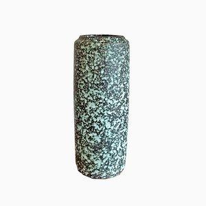 Aqua on Black Ceramic Vase 532/28 by Heinz Siery for Scheurich, 1960s