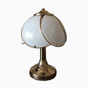 Lampe de Bureau Regency Vintage en Laiton et Verre, 1970s