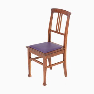 Chaise de Bureau Art Nouveau Arts & Crafts en Chêne, 1900s