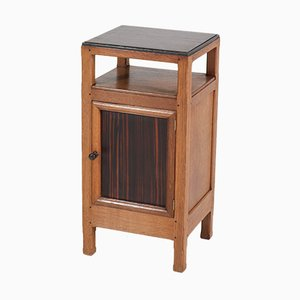 Art Deco Oak Haagse School Nightstand by Paul Bromberg for H. Pander & Zn., 1920s