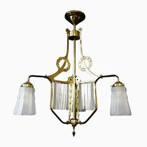 Antike französische Jugendstil Deckenlampe