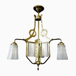 Antique Art Nouveau French Ceiling Lamp