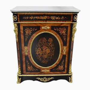 Napoleon III Rosewood, Blackened Pearwood and Inlaid Buffet