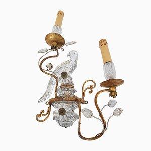 Papagei Wandlampen von Maison Baguès, 1950er, 2er Set