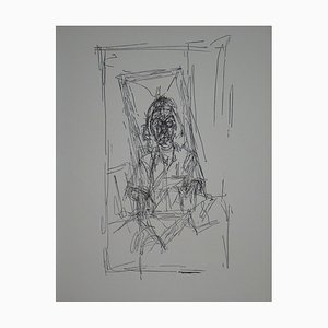 Alberto GIACOMETTI (after) - Drawing, 1954 - Lithograph