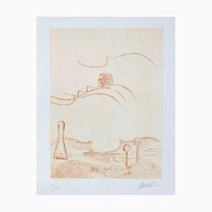 ARMAN - Le ciel et son fantôme - Original etching handsigned numbered - 1975