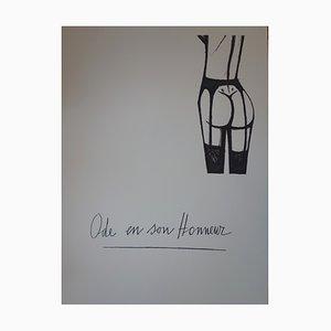 Ode in Her Honor Original Lithograph by Bernard Buffet, 1970