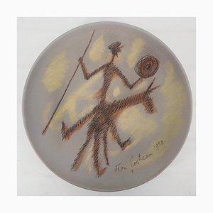 Jean Cocteau, Don Quichotte, Signierte originale Keramikdose
