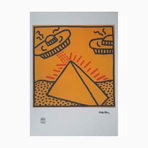 Keith Haring (d'après) , Vaisseaux Spatiales , Serigraph , signed