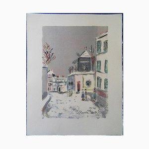 Maurice UTRILLO - Montmartre : le cabaret du Lapin Agile, original signed engraving