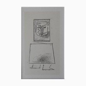 Litografia Frottage 23 di Max Ernst, 1973