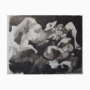 Pablo PICASSO - Der Liebhaber des Stierkämpfers, 1960, signiert Lithographie
