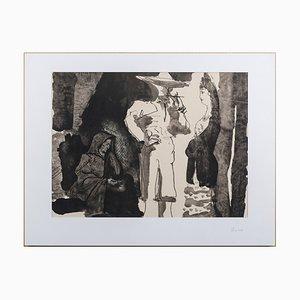 Pablo PICASSO (nachher) - La Dame et le Toréador, 1960 - Lithographie