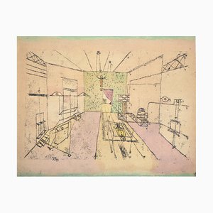 Paul KLEE (after) - Perspective Phantasmagory, 1964 - Signed Lithograph and Stencil