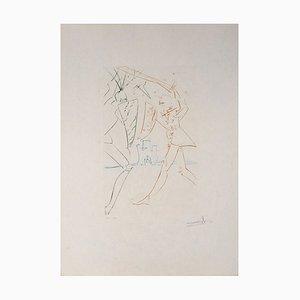 Salvador Dali - The Straits of Gadalore, gravure originale signée