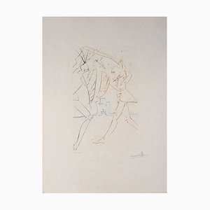 Salvador Dali - The Straits of Gadalore, original signed engraving