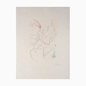 Salvador DALI - Viviane et Lancelot, Lithographie originale