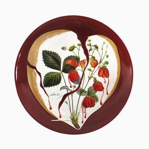 Salvador DALI - Coeur de fraises - Original signed porcelain plate
