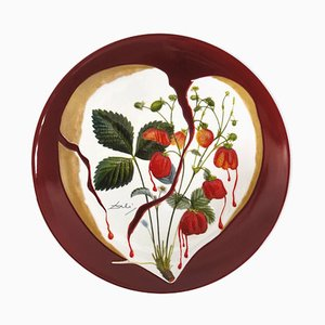 Salvador DALI - Coeur de fraises - Signierte echte Porzellanteller