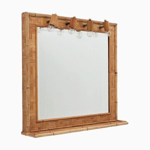 Vintage Bamboo Mirror from Vivai del Sud
