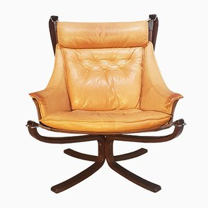 Norwegian Falcon Armchair by Sigurd Ressell for Vatne Møbler, 1970s