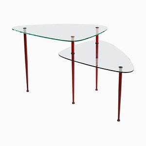Mid-Century Glass and Brass Coffee Table by Edoardo Paoli for Vitrex