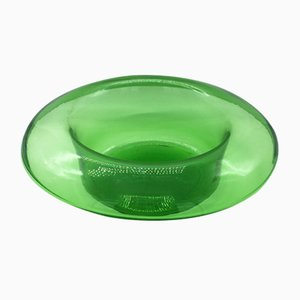 Large Mid-Century Green Murano Glass Top Hat Vase from Vetrerie Empoli, 1960s