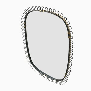 Brass Wall Mirror by Josef Frank, 1950s