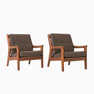 Danish Teak Armchairs from Dyrlund, 1970s, Set of 2