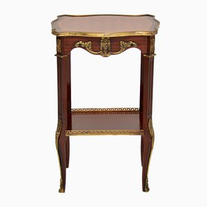 French Inlaid Parquetry Side Table, 1950s