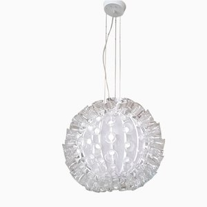 Sunball Ceiling Lamp with Glass Flowers from Murano Due, 1990s