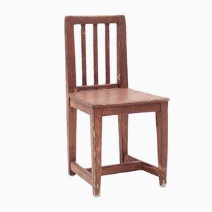Antique Rustic Swedish Pinewood Childrens Chair