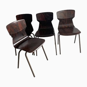 Rosewood Dining Chairs from Eromes, 1960s, Set of 4