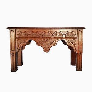 Tables d'Appoint Gothic Revival en Chêne, Set de 2