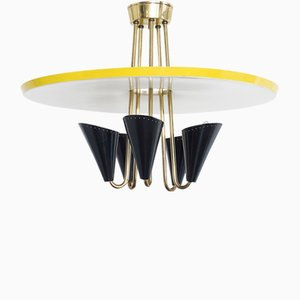 Swiss Ceiling Lamp from BAG Turgi, 1950s