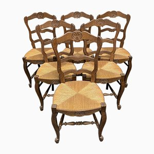 French Dining Chairs, 1920s, Set of 6