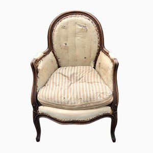 French Louis XV Bergere Chairs, 1880s, Set of 2