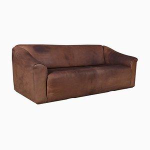 Vintage Modell DS47 3-Sitzer Sofa aus patiniertem Leder von de Sede