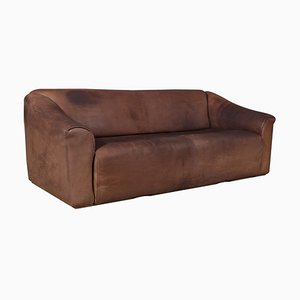 Vintage Patinated Leather Model DS47 3-Seater Sofa from de Sede