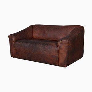 Vintage Modell DS47 2-Sitzer Sofa aus patiniertem Leder von de Sede