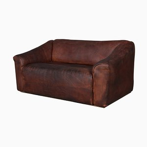 Vintage Patinated Leather Model DS47 2-Seater Sofa from de Sede