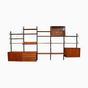 Large Danish Teak Royal Series Modular Wall Unit by Poul Cadovius, 1950s
