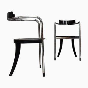 Chaises de Salon en Chrome par David Palterer pour Zanotta, Italie, 1980s, Set de 2